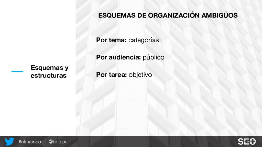 @rdiezv #clinicseo Esquemas y estructuras ESQUE...