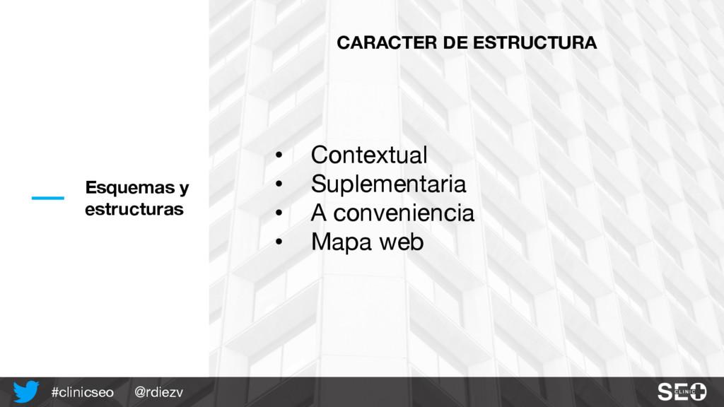 @rdiezv #clinicseo Esquemas y estructuras CARAC...
