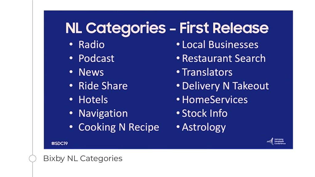 Bixby NL Categories
