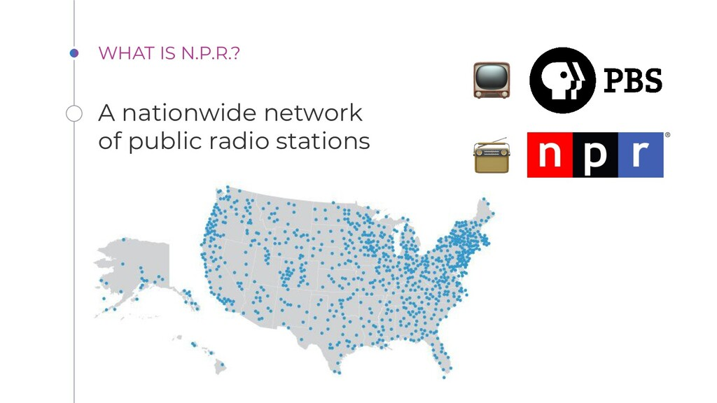 WHAT IS N.P.R.? A nationwide network of public ...
