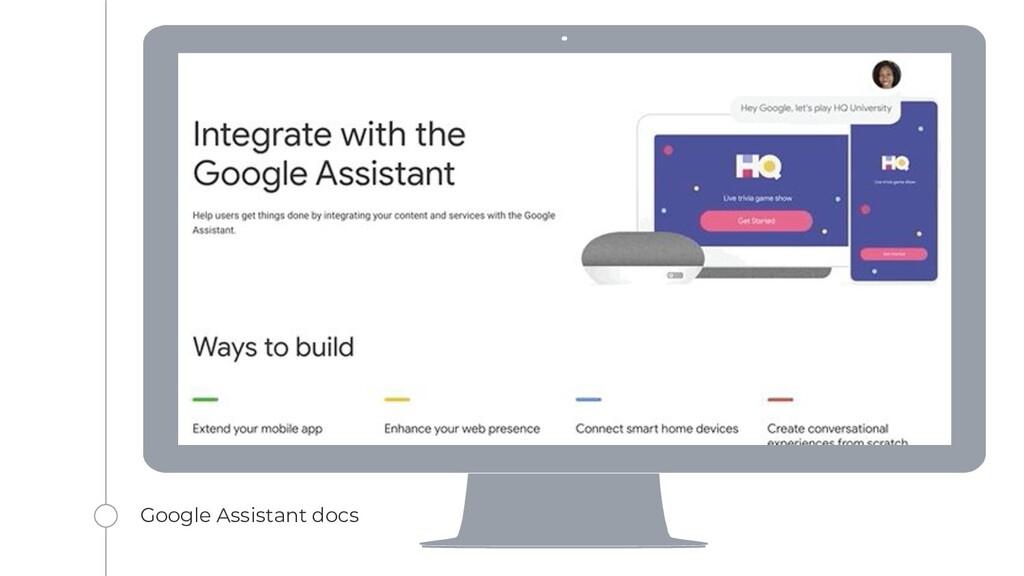 Google Assistant docs