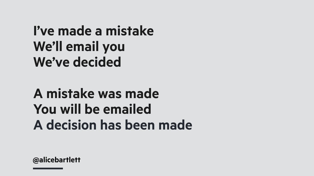 @alicebartlett I've made a mistake We'll email ...