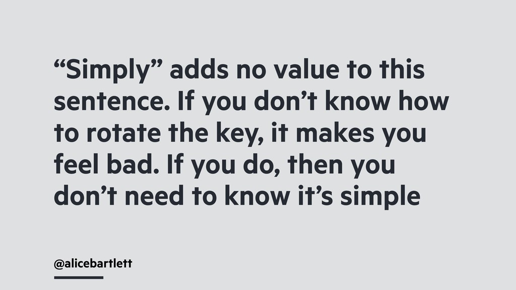 """""""Simply"""" adds no value to this sentence. If you..."""