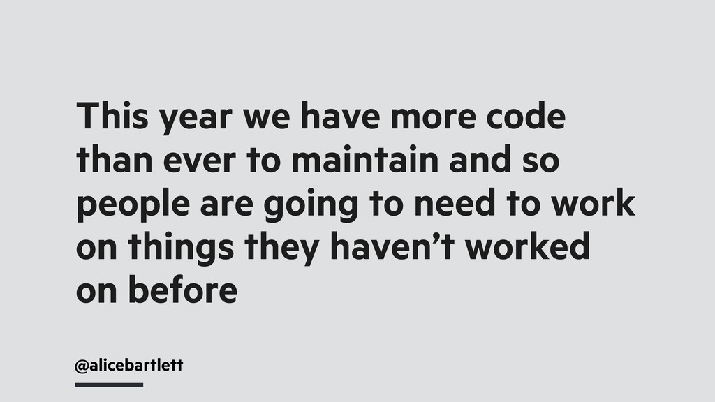 @alicebartlett This year we have more code than...