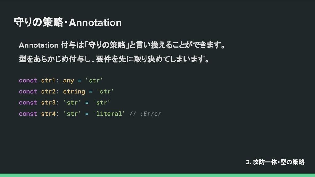 守りの策略・Annotation Annotation 付与は「守りの策略」と言い換えることが...