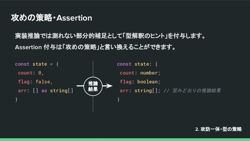 攻めの策略・Assertion const state = { count: 0, flag:...