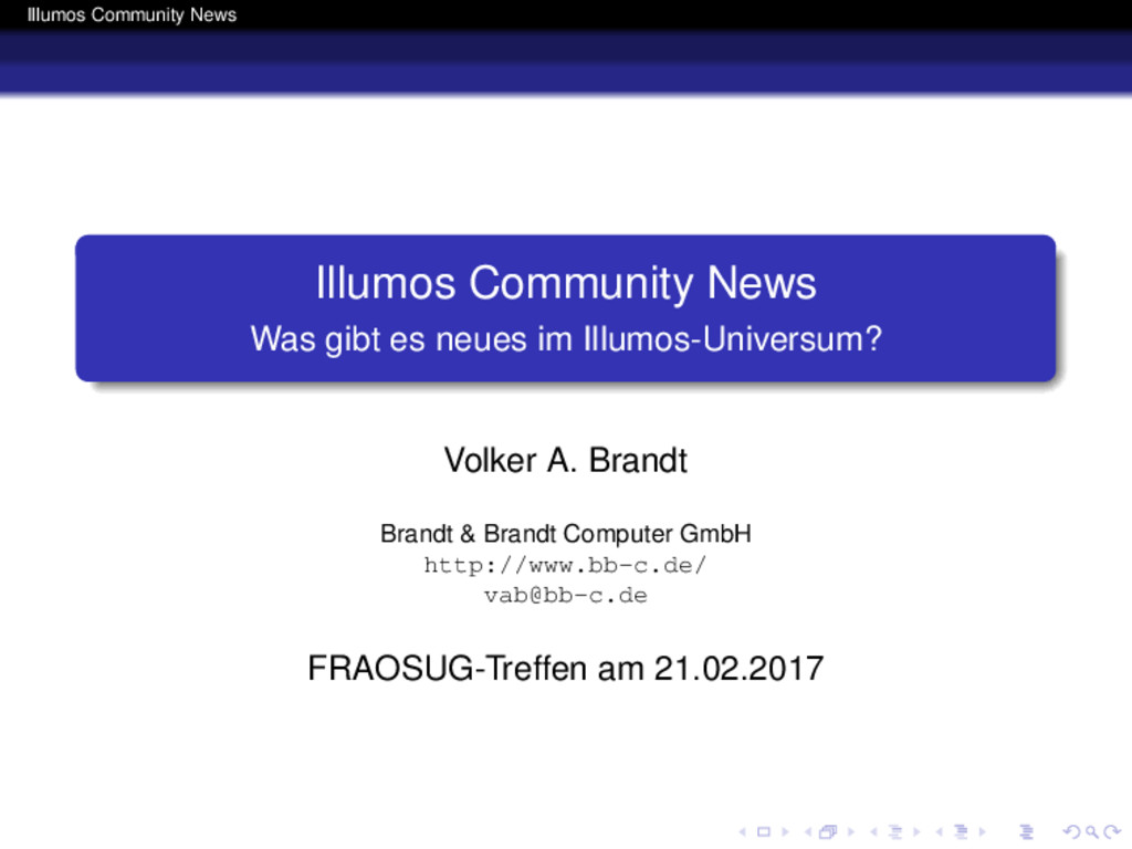 Illumos Community News Illumos Community News W...