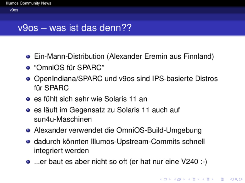 Illumos Community News v9os v9os – was ist das ...
