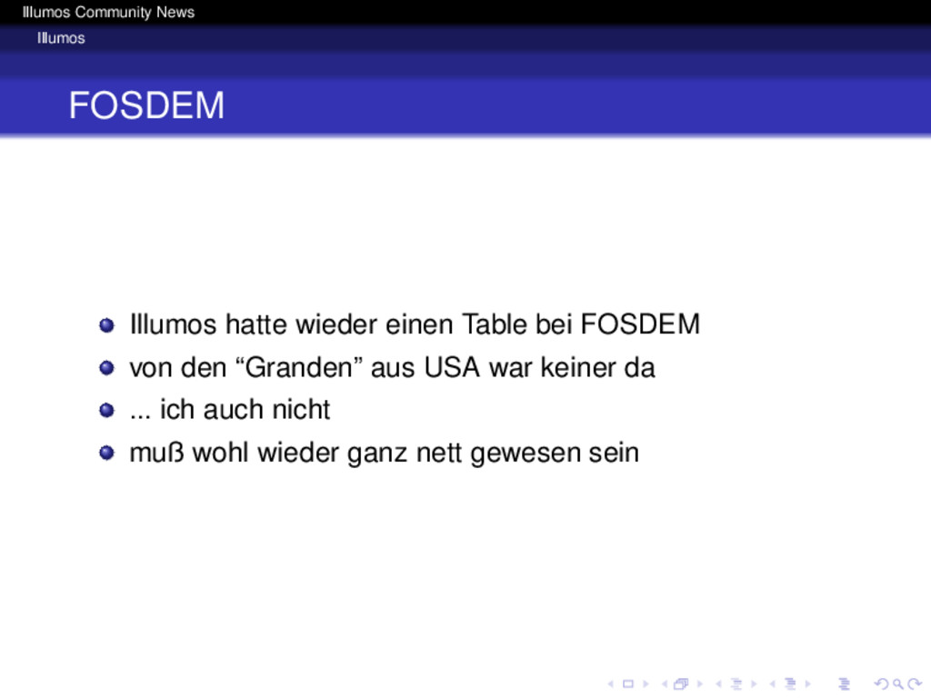 Illumos Community News Illumos FOSDEM Illumos h...
