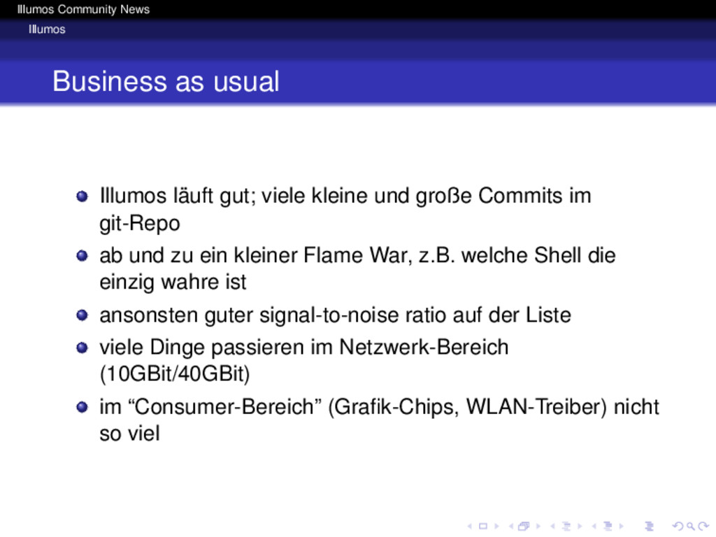 Illumos Community News Illumos Business as usua...