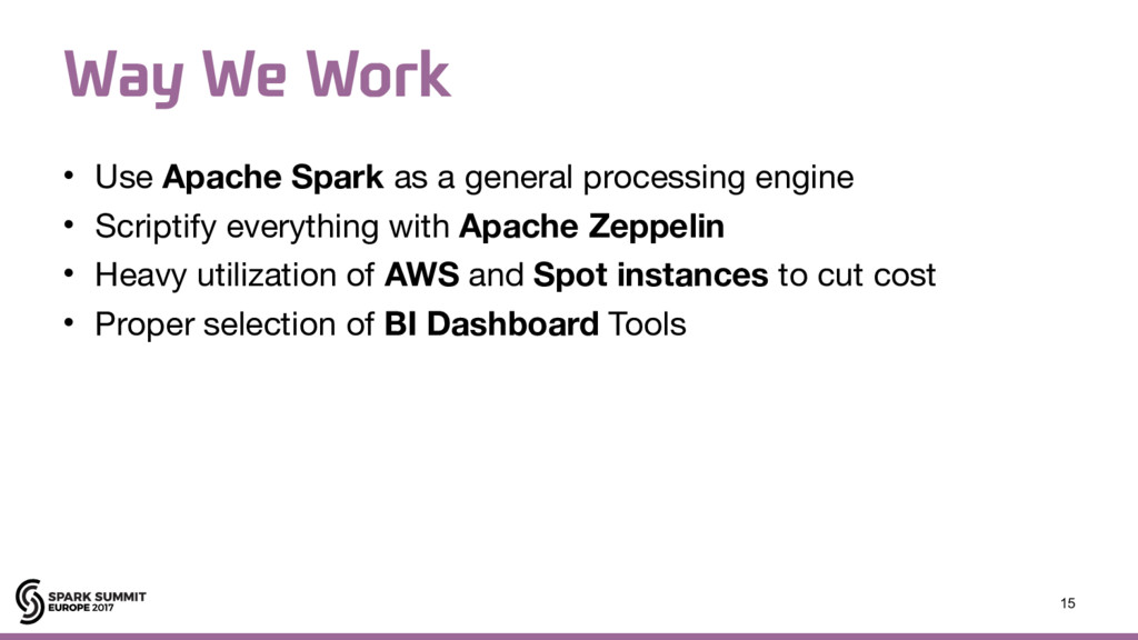 8BZ8F8PSL • Use Apache Spark as a general pro...