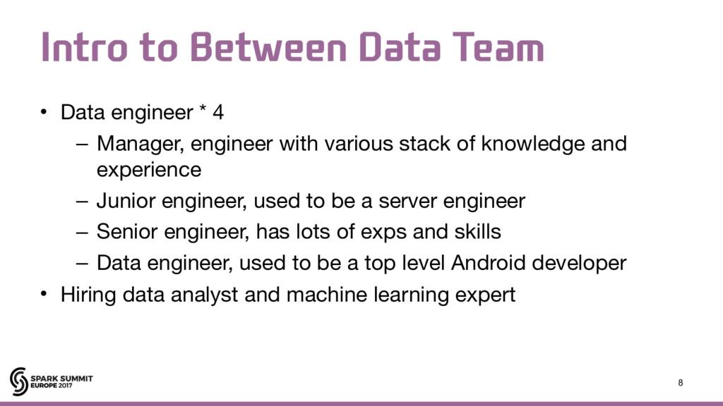 *OUSPUP#FUXFFO%BUB5FBN • Data engineer * 4 ...