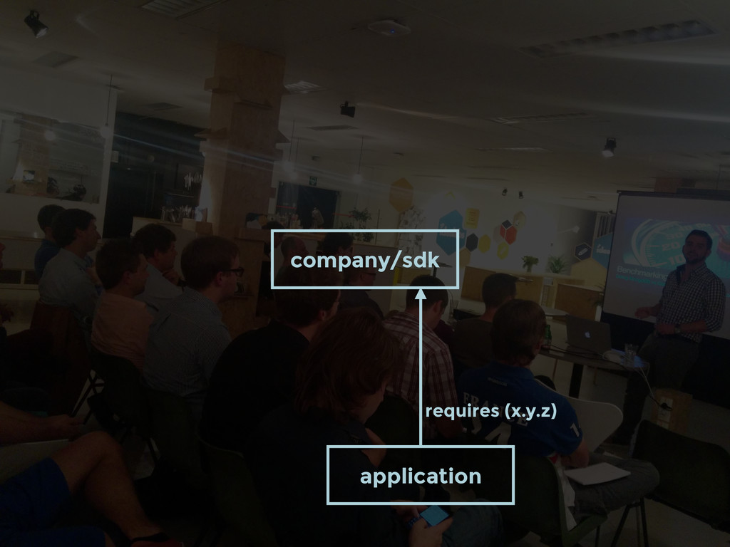 company/sdk application requires (x.y.z)