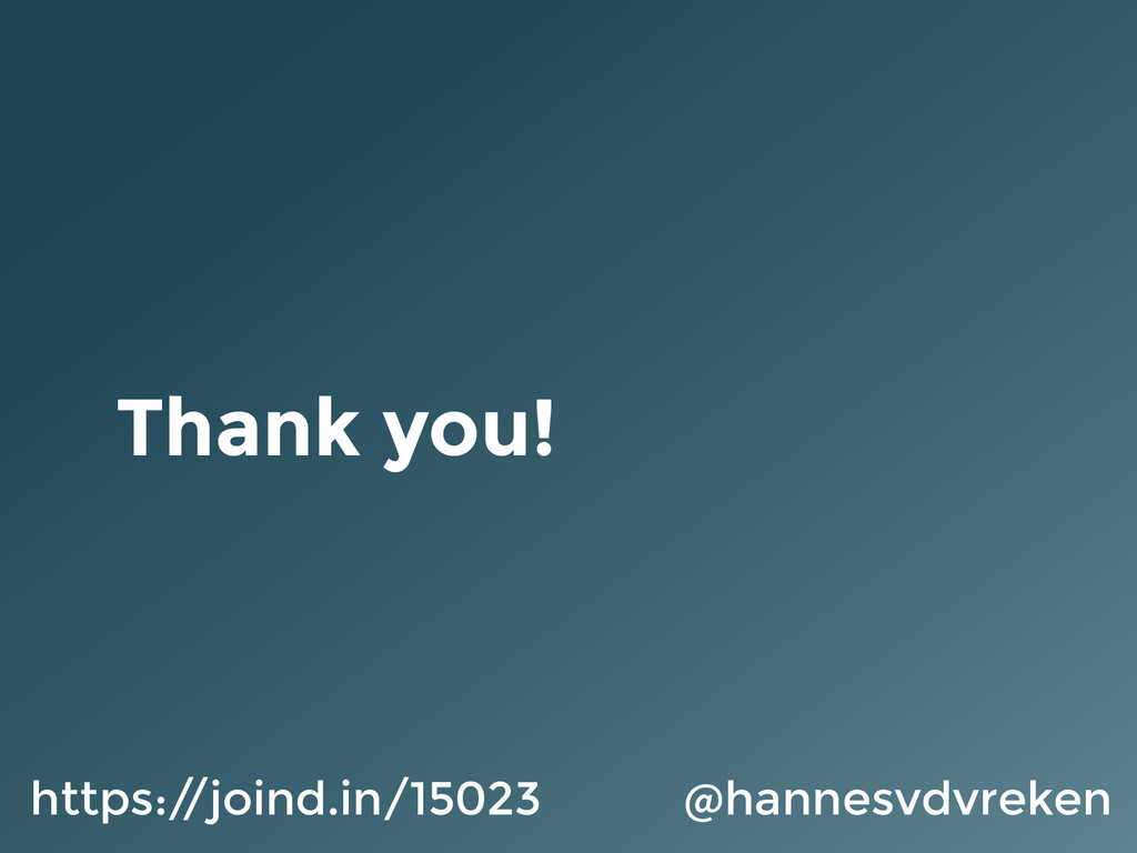 Thank you! @hannesvdvreken https:/ /joind.in/15...