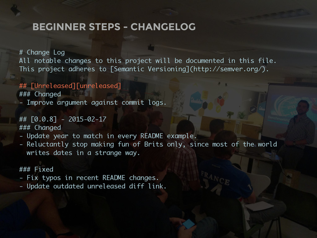 BEGINNER STEPS - CHANGELOG # Change Log All not...