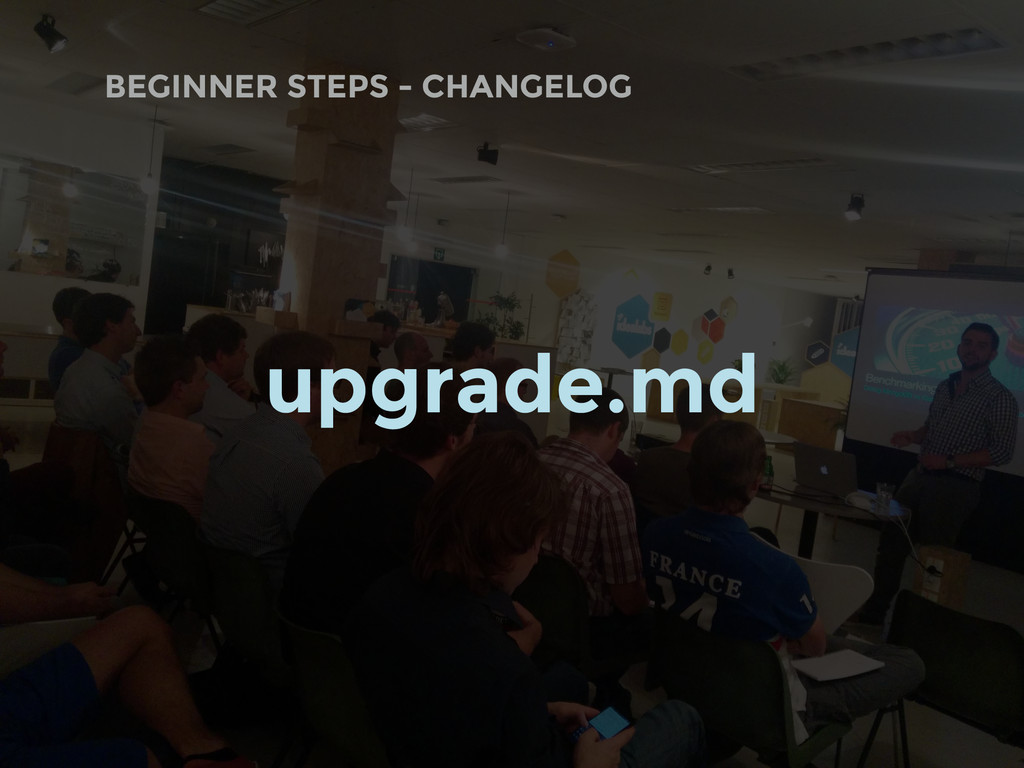 BEGINNER STEPS - CHANGELOG upgrade.md