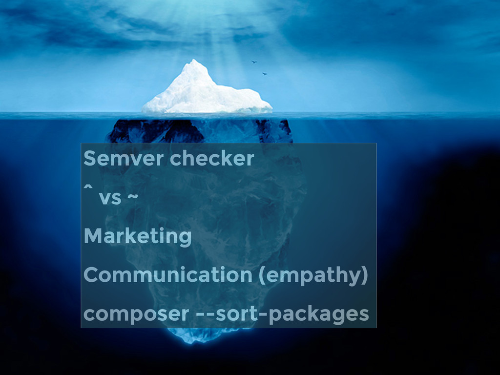 Semver checker ^ vs ~ Marketing Communication (...