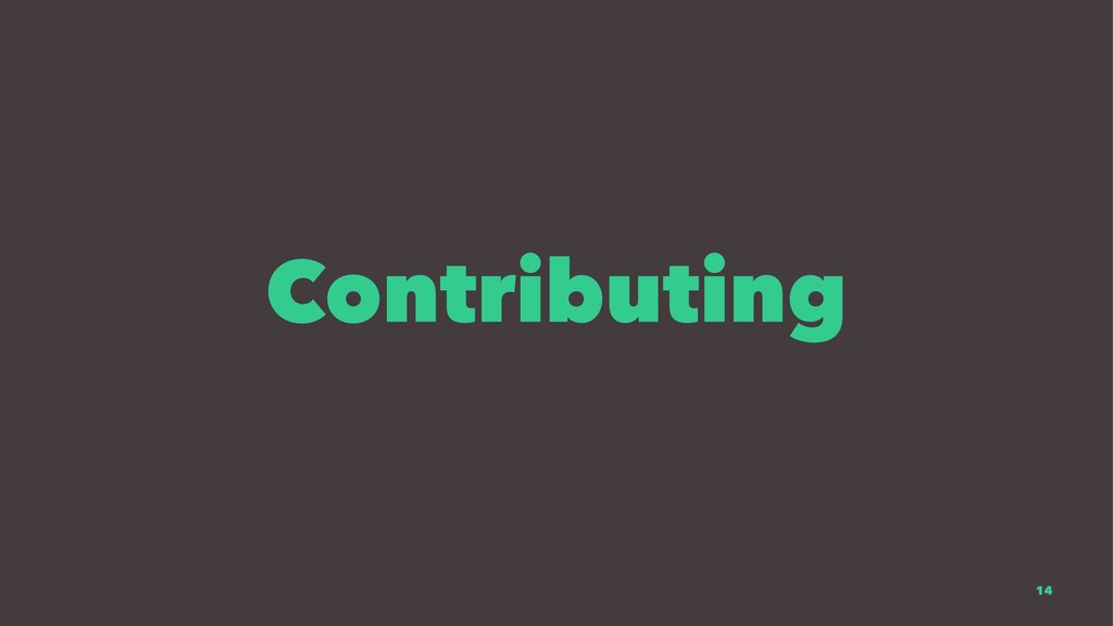 Contributing 14