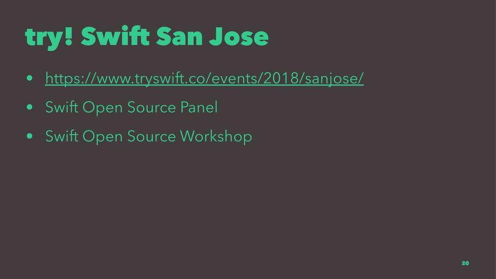 try! Swift San Jose • https://www.tryswift.co/e...