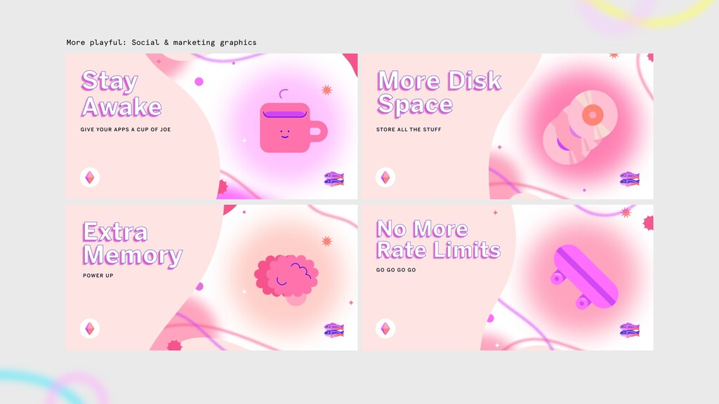 More playful: Social & marketing graphics