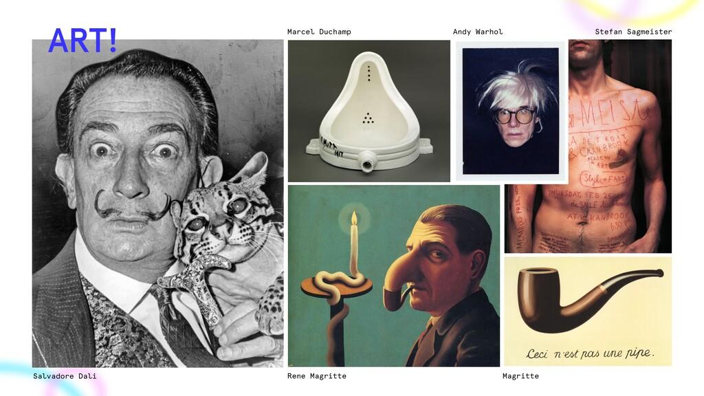 Salvadore Dali Rene Magritte Magritte Marcel Du...