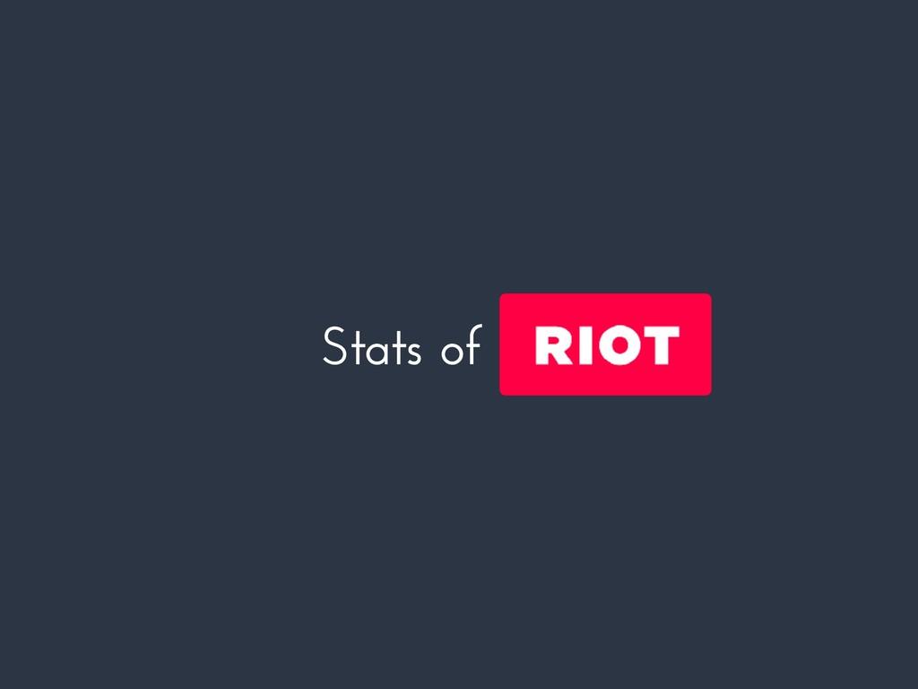 Stats of riotjs