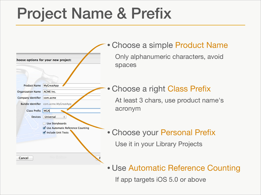 Project Name & Prefix •Choose a simple Product N...
