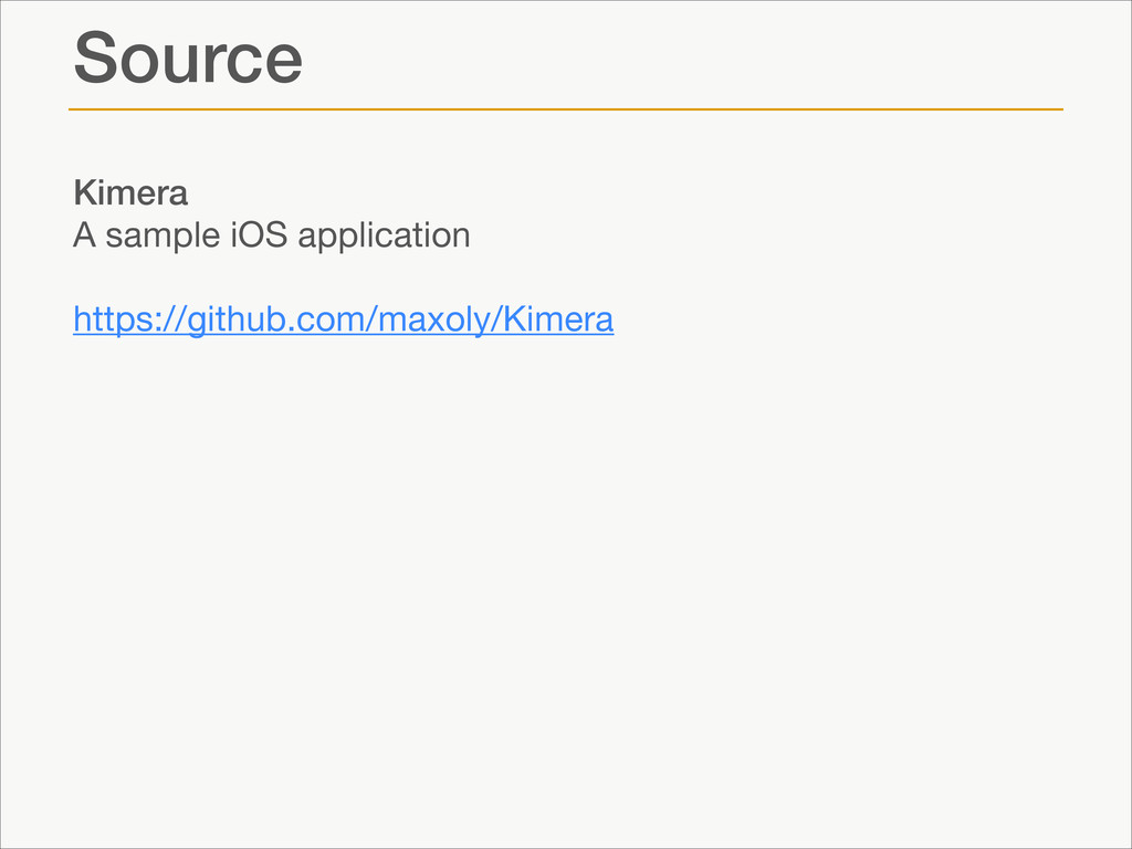 Source Kimera A sample iOS application  ! https...