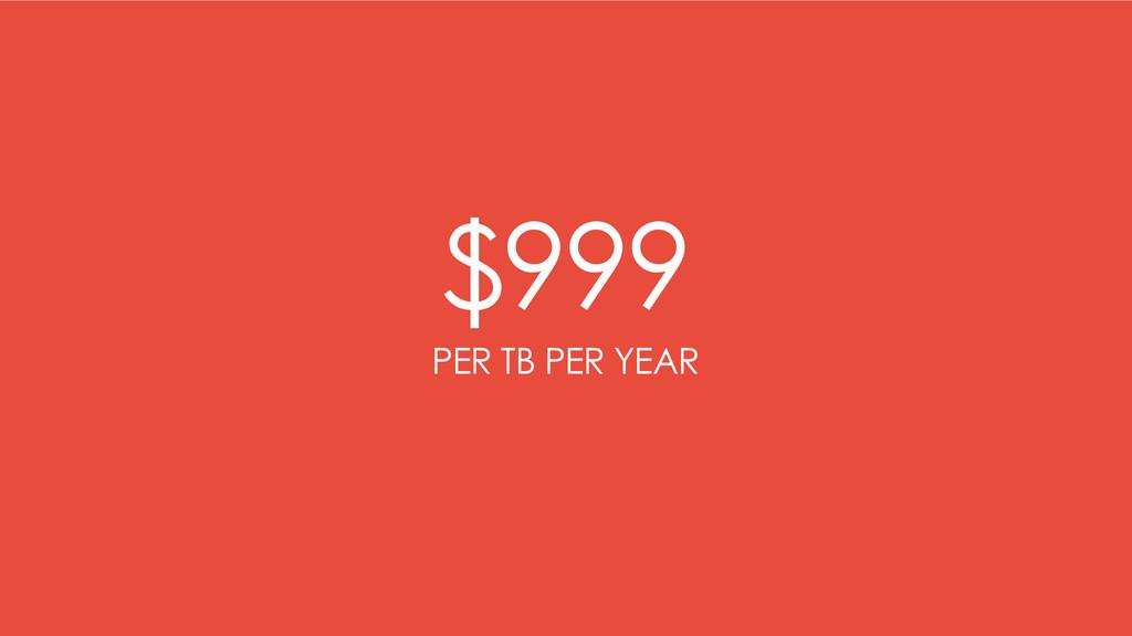 $999 PER TB PER YEAR