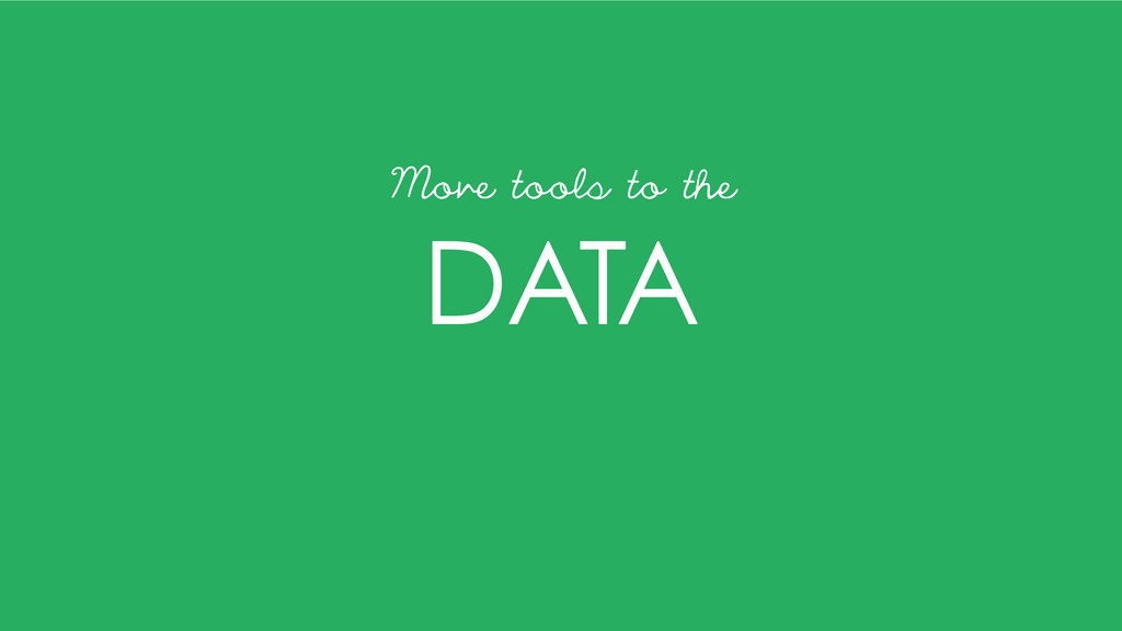 DATA Move tools to the