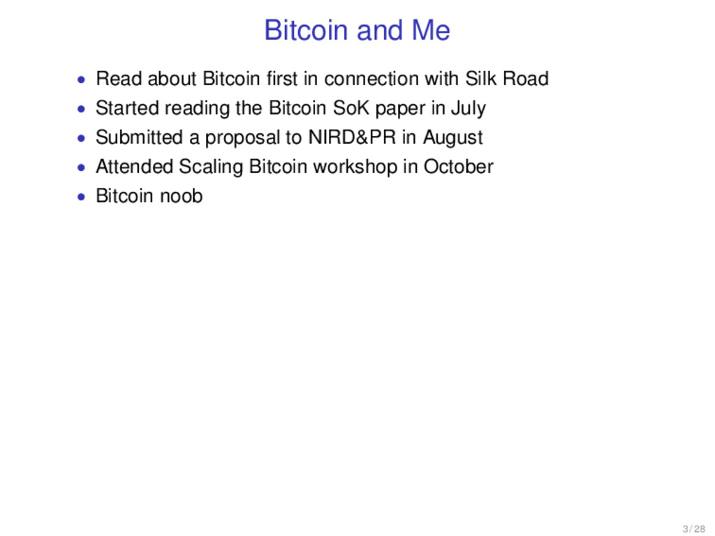 Bitcoin and Me • Read about Bitcoin first in con...