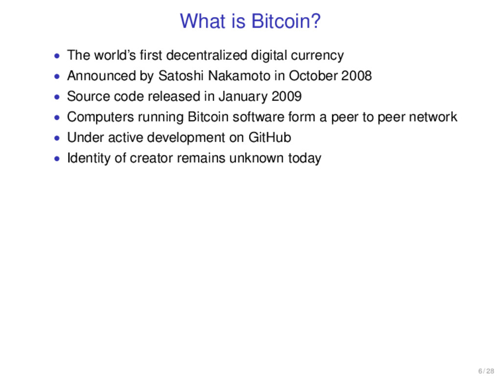 What is Bitcoin? • The world's first decentraliz...