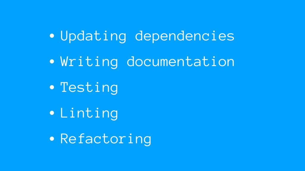 • Updating dependencies • Writing documentation...