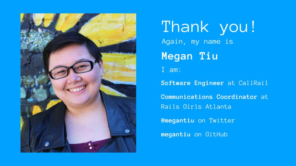 Thank you! Software Engineer at CallRail Commun...