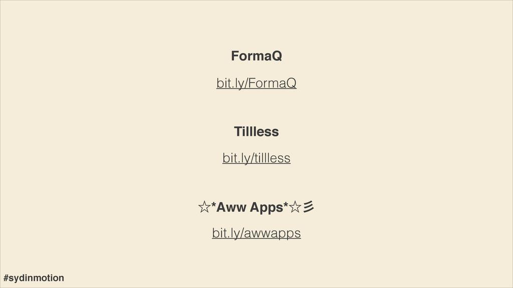 bit.ly/FormaQ bit.ly/tillless FormaQ Tillless b...