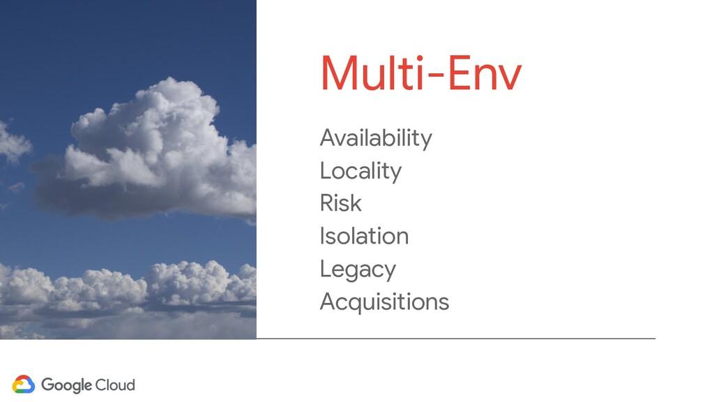 Availability Locality Risk Isolation Legacy Acq...