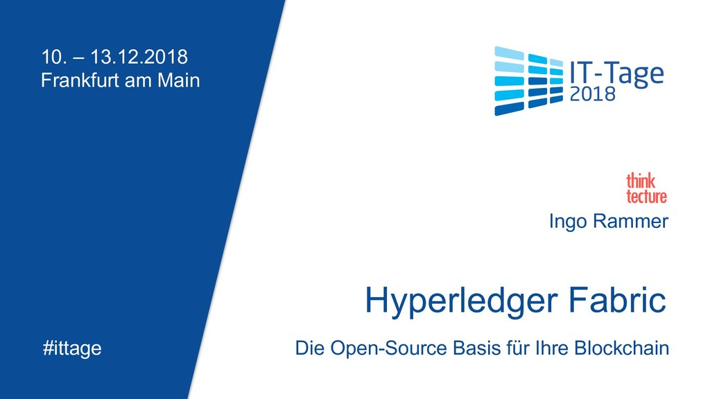 Hyperledger Fabric Open-Source Basis für Ihre B...