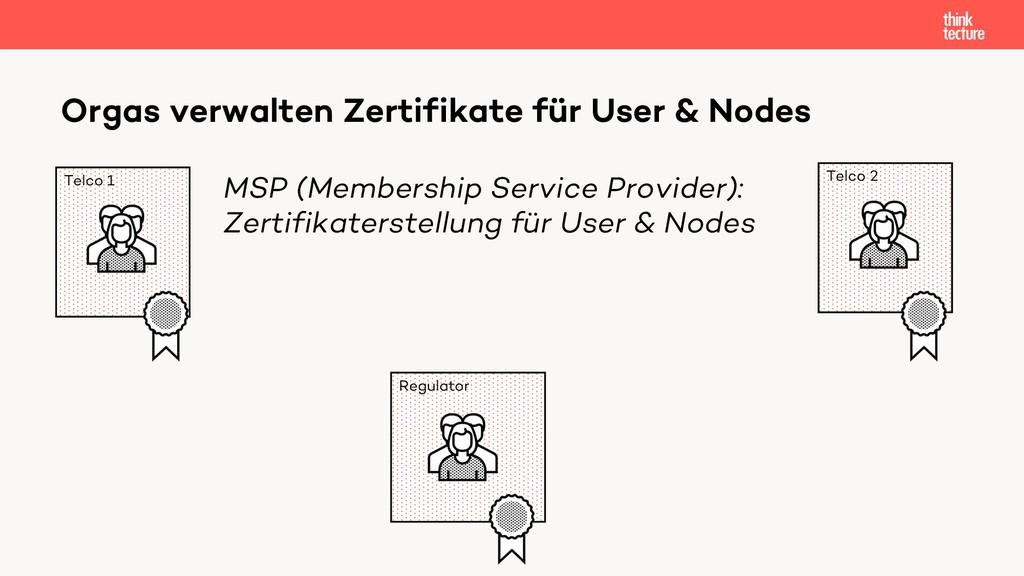 Orgas verwalten Zertifikate für User & Nodes Te...