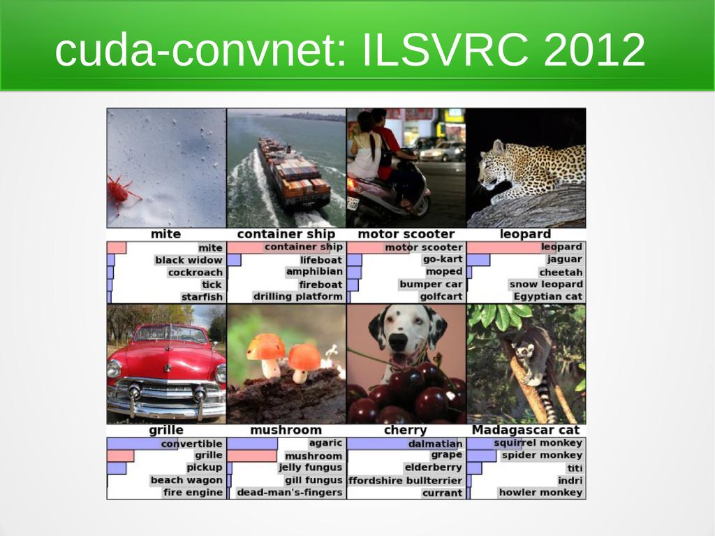 cuda-convnet: ILSVRC 2012