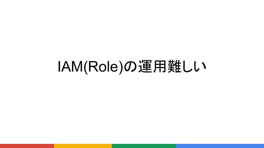 IAM(Role)の運用難しい