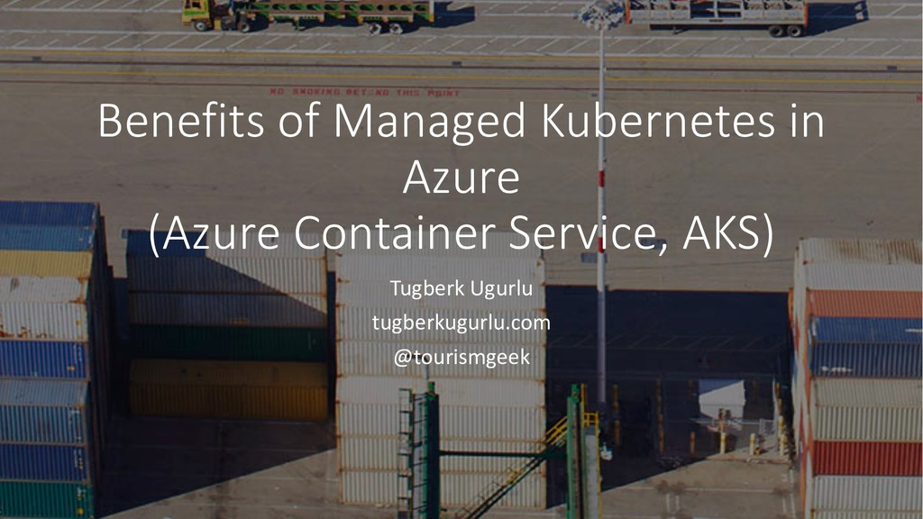 Benefits of Managed Kubernetes in Azure (Azure ...