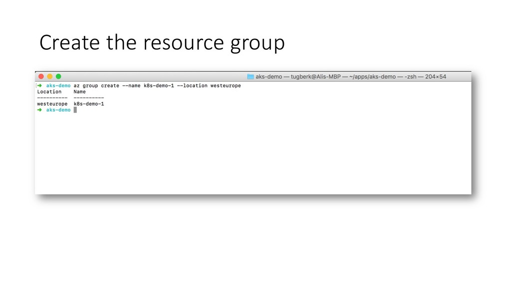 Create the resource group