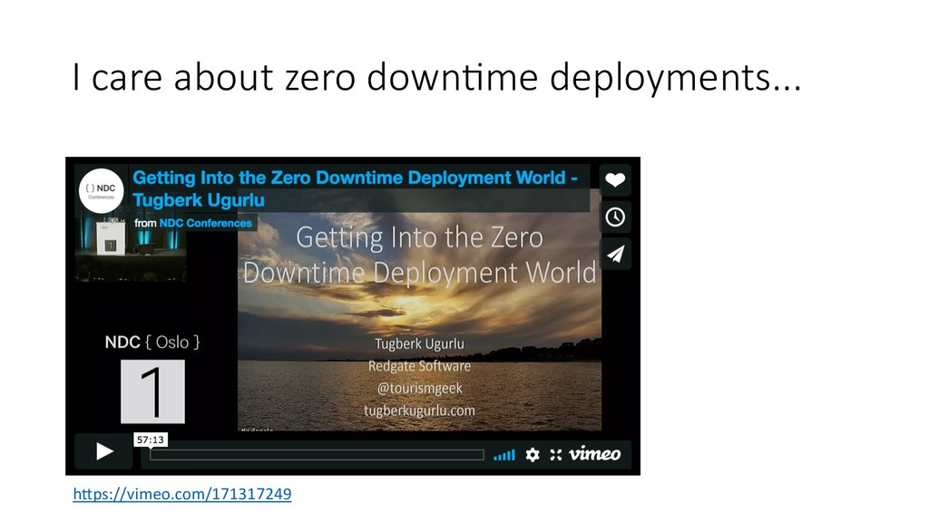 "I care about zero down/me deployments... h""ps:/..."