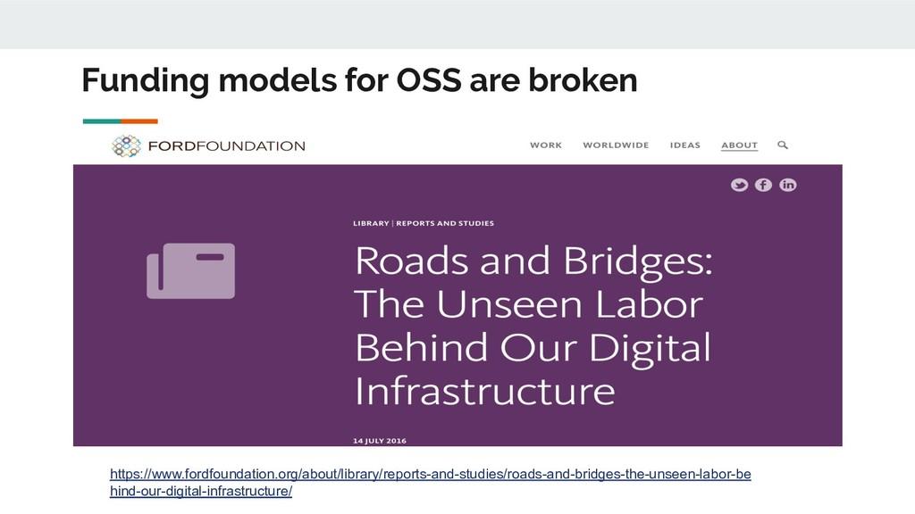 Funding models for OSS are broken https://www.f...