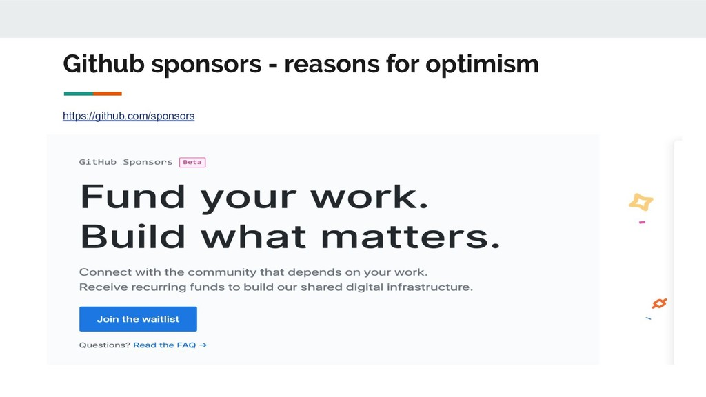 Github sponsors - reasons for optimism https://...