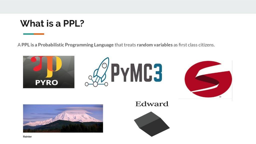 What is a PPL? A PPL is a Probabilistic Program...