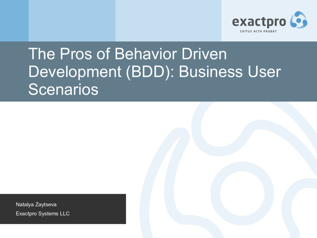 The Pros of Behavior Driven Development (BDD): ...