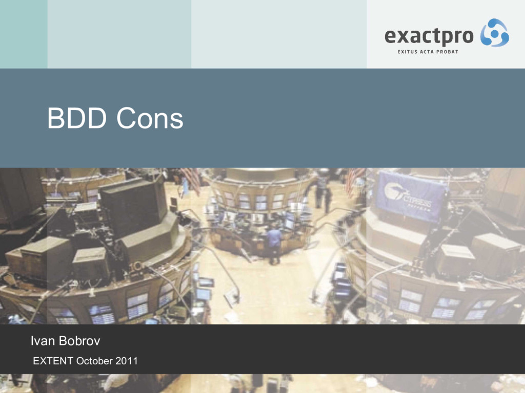 BDD Cons Ivan Bobrov EXTENT October 2011
