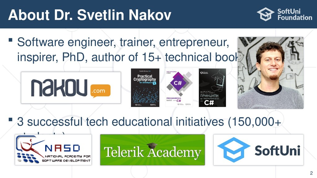  Software engineer, trainer, entrepreneur, ins...