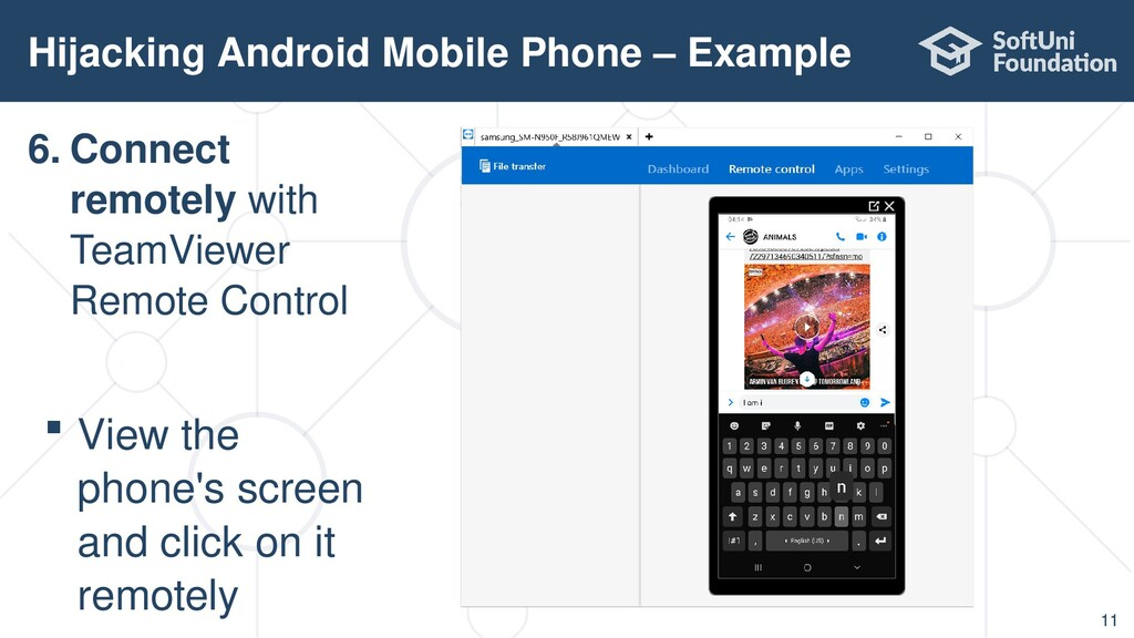 Hijacking Android Mobile Phone – Example 11 6. ...